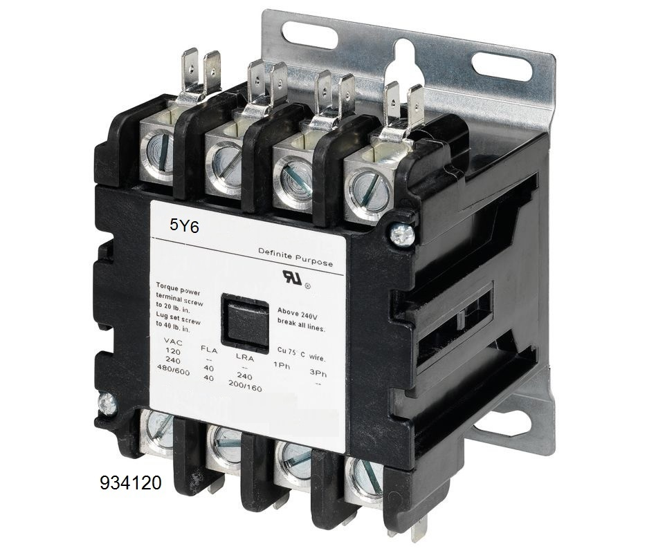 4 pole lighting contactor